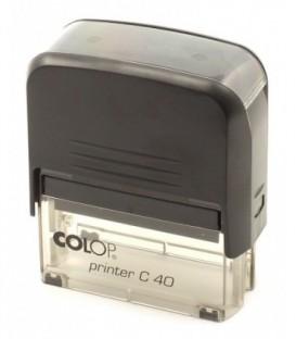 Автоматическая оснастка Colop C40 для клише штампа 58*22 мм, корпус черный