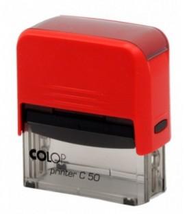 Автоматическая оснастка Colop C50 для клише штампа 69*30 мм, корпус красный
