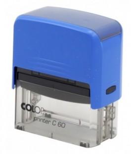 Автоматическая оснастка Colop C60 для клише штампа 76*37 мм, корпус синий