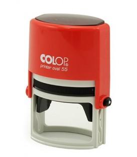 Автоматическая оснастка Colop Oval 55 для овальных штампов для клише штампа 35*55 мм, корпус красный