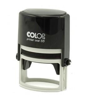 Автоматическая оснастка Colop Oval 55 для овальных штампов для клише штампа 35*55 мм, корпус черный
