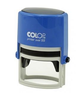 Автоматическая оснастка Colop Oval 55 для овальных штампов для клише штампа 35*55 мм, корпус синий