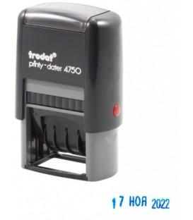 Датер со свободным текстовым полем Trodat 4750 текстовое поле 41*24 мм, высота даты 4 мм
