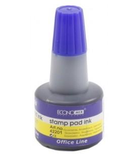 Краска штемпельная Economix 30 мл, синяя