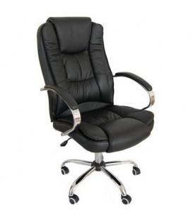 Кресло офисное Calviano Vito 3138 для руководителя обивка - экокожа черная