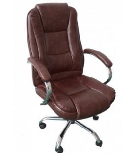 Кресло офисное Calviano Vito 3138 для руководителя обивка - экокожа коричневая