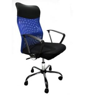 Кресло офисное Calviano Xenos II NF-270 для руководителя обивка - черная + синяя сетка