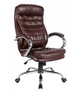 Кресло офисное Calviano VIP-Masserano Tilt 3010 для руководителей обивка - экокожа коричневая