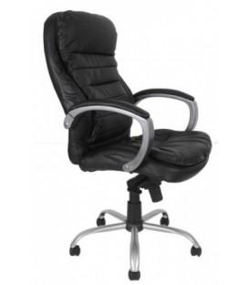 Кресло офисное Calviano VIP-Masserano Tilt 3010 DMSL для руководителей обивка - черная экокожа