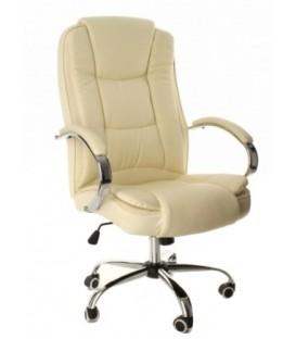 Кресло офисное Calviano Meracles 3138 для руководителя обивка - экокожа бежевая