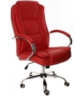 Кресло офисное Calviano Mido 3138 для руководителя обивка - экокожа красная