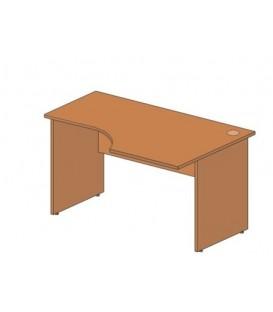 Стол офисный угловой 1400*900*760 мм, правосторонний, груша