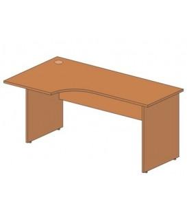 Стол офисный угловой 1600*900*760 мм, левосторонний, груша