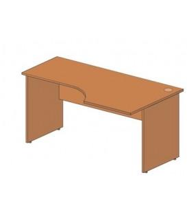 Стол офисный угловой 1600*900*760 мм, правосторонний, груша