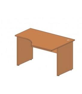 Стол офисный угловой 1300*900*760 мм, правосторонний, груша