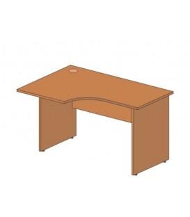 Стол офисный угловой 1300*900*760 мм, левосторонний, груша