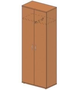 Шкаф офисный платяной 804*450*2155 мм, без замка, груша
