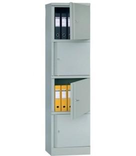Металлический шкаф серии АМ AM-1845/4: 1830*470*460 мм, 4 отделения, 38 кг