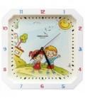 Часы настенные «Тройка» рамка белая