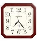 Часы настенные «Тройка» рамка бордовая