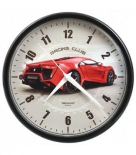 Часы настенные «Тройка» рамка черная «Авто»