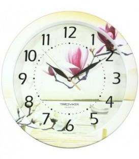 Часы настенные «Тройка» «Цветы»