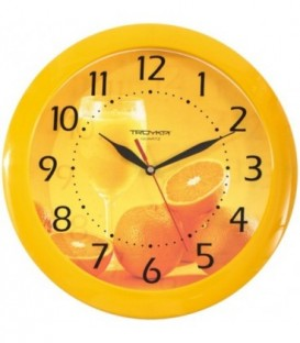 Часы настенные «Тройка» «Апельсиновый сок»