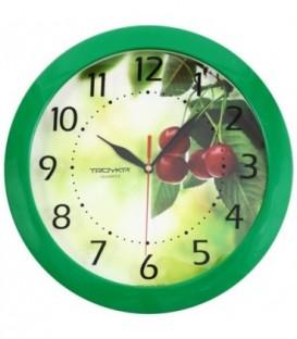 Часы настенные «Тройка» «Вишни»