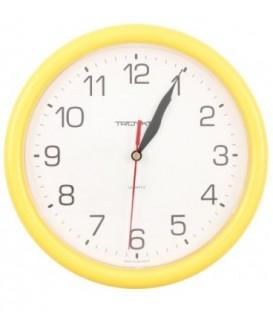 Часы настенные «Тройка» рамка желтая