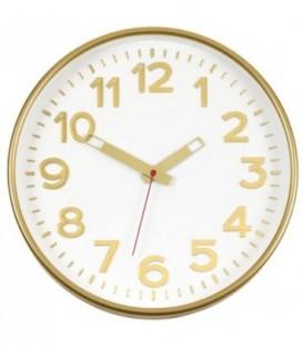 Часы настенные «Тройка» рамка золотистая