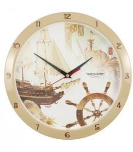 Часы настенные «Тройка» «Корабли»