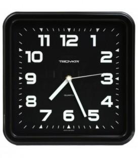 Часы настенные «Тройка» рамка черная