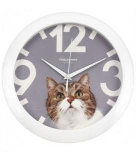 Часы настенные «Тройка» «Кот»