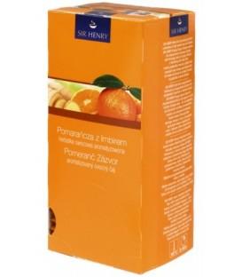 Чай Sir Henry 56,25 г, 25 пакетиков, Orange Ginger, напиток чайный с ароматом апельсина и имбиря