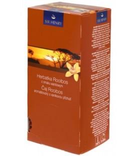 Чай Sir Henry 50 г, 25 пакетиков, Rooibos Infusion, напиток чайный с ароматом ванили
