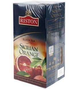 Чай Riston 37,5 г, 25 пакетиков, Sicilian Orange, черный чай с добавками