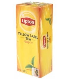 Чай Lipton Yellow Label Tea 50 г, 25 пакетиков, черный чай