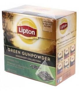 Чай Lipton ароматизированный в пирамидках 36 г, Green Gunpowder, зеленый чай