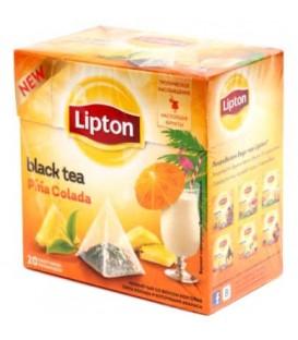 Чай Lipton ароматизированный в пирамидках 36 г, Pina Colada, черный чай