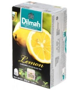 Чай Dilmah 30 г, 20 пакетиков, чай черный с ароматом лимона, Lemon