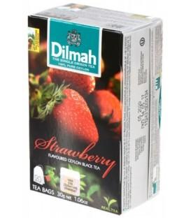 Чай Dilmah 30 г, 20 пакетиков, чай черный с ароматом клубники, Strawberry
