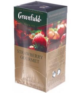 Чай Greenfield 50 г, 25 пакетиков, Strawberry Gourmet, чай черный с ароматом шоколада и клубники