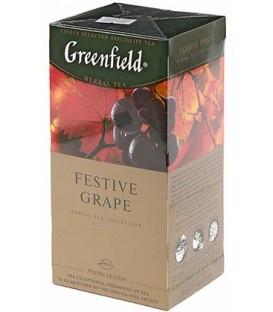Чай Greenfield 50 г, 25 пакетиков, Festive Grape, травяной чай