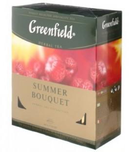 Чай Greenfield 200 г, 100 пакетиков, Summer Bouquet, травяной чай