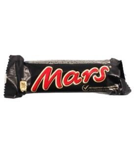 Батончик шоколадный Mars 50 г, с нугой и карамелью