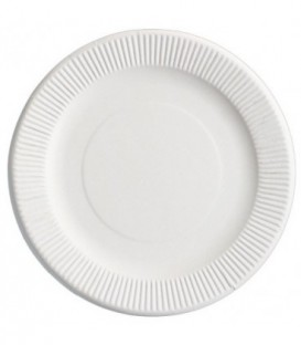 Тарелка одноразовая диаметр 23 см, белая
