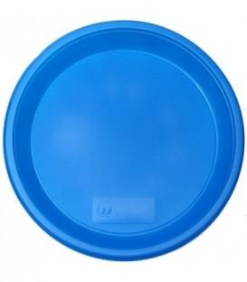 Тарелка одноразовая пластиковая «Мистерия» плоская, диаметр 21 см, синяя