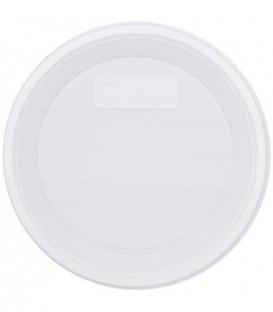 Тарелка одноразовая пластиковая «Мистерия» десертная, диаметр 16,7-17 см, белая