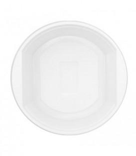 Тарелка одноразовая пластиковая «Мистерия» суповая, 0,5 л, диаметр 16 см, белая