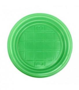 Тарелка одноразовая пластиковая «Мистерия» десертная, диаметр 16,5 см, зеленая